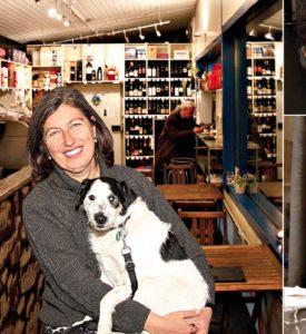 Irene Strobl mit ihrem Hund Füles