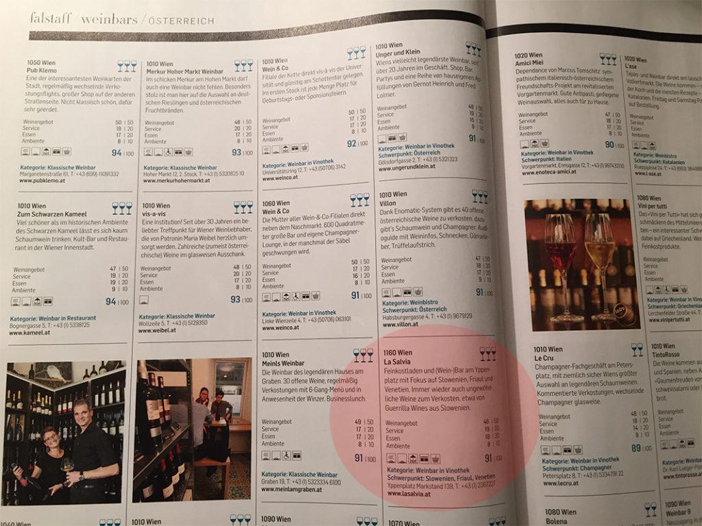 Falstaff Weinbars Österreich